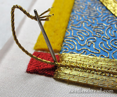 Mission Rose: Goldwork Embroidery - Plunging Twist