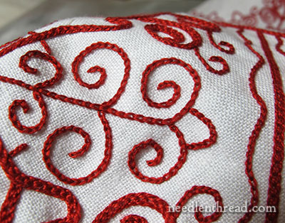 Hungarian Redwork Embroidery Project