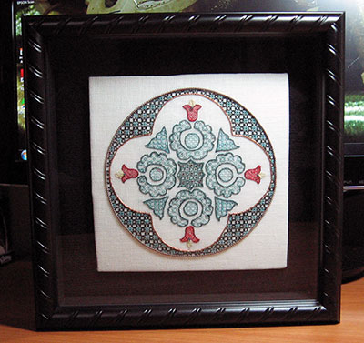 Hungarian Embroidery Design in Blackwork