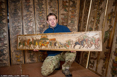 Bayeux Tapestry in Wood