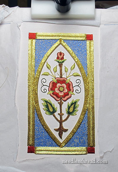 Mission Rose Goldwork Embroidery Project
