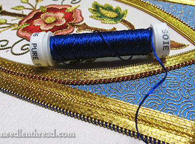 Mission Rose Silk and Goldwork Embroidery Project