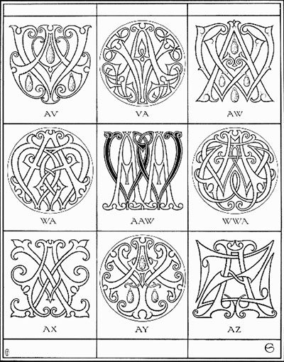 Monogram Designs: Free Online Resources – Needle'