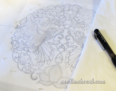 Tracing Embroidery Design
