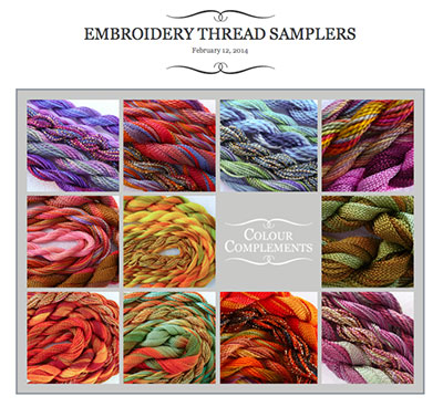 Colour Complements - Hand Dyed Embroidery Threads