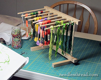 Repurposed Embroidery Thread Rack
