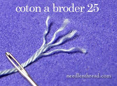 Coton a broder vs. floche