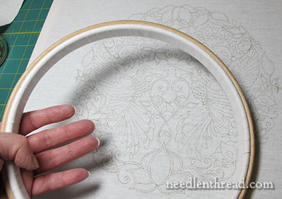 Secret Garden Embroidery Project - Framing Up