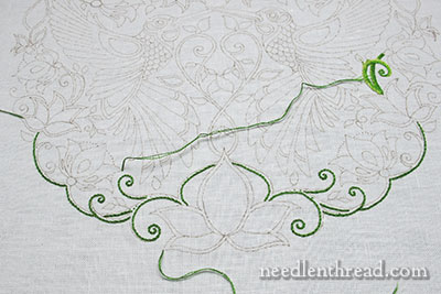 Secret Garden Embroidery Project - Stem Stitch Tips