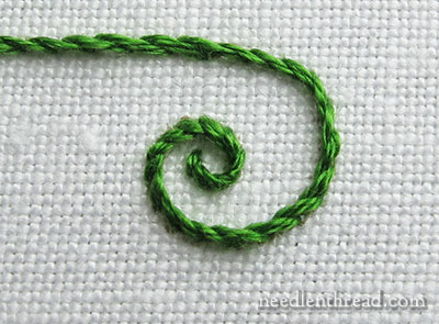 Stem Stitch Curls and Spirals