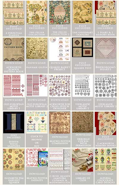 Needleprint Sampler Motifs