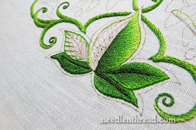 Secret Garden Embroidery: Leaves