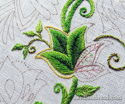 Secret Garden Embroidery: Leaf Outlines