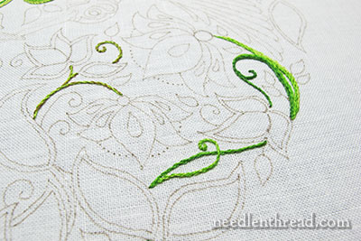 Secret Garden Embroidery - stems