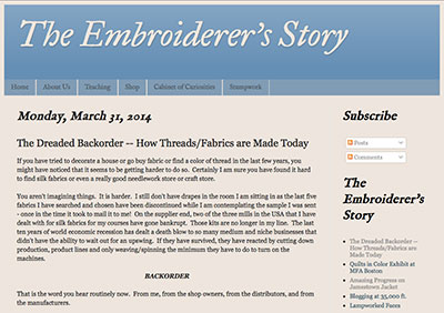 The Embroidery Supply Chain