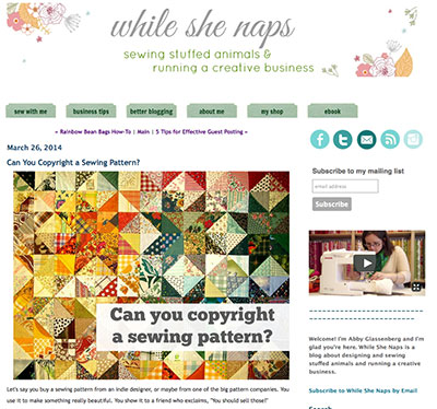 Copyright Information for needleworkers