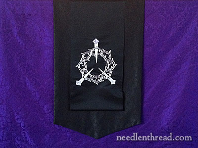 Crown of Thorns Embroidery silk and metal thread embroidery