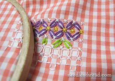 Gingham Lace / Chicken Scratch Embroidery for Spring