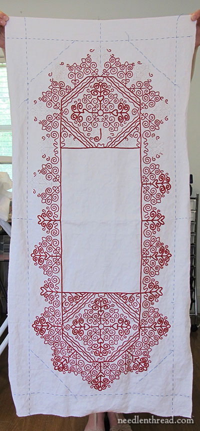 Hungarian Redwork Runner