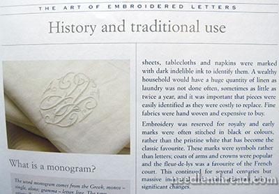 Monograms The Art Of Embroidered Letters Book Review