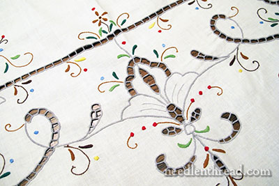 Cutwork Embroidery worked in Color