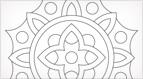 Funburst Embroidery Pattern