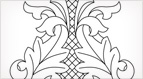Rococo Bud Embroidery Pattern
