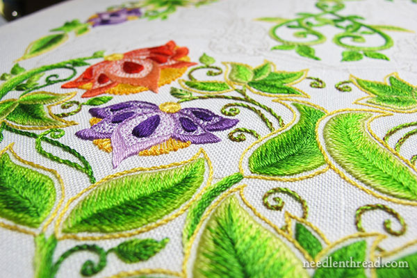 Secret Garden Embroidery Project: Flowers