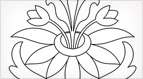 Sprouting Flower Embroidery Pattern