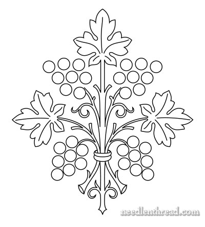 Hand Embroidery Pattern: Grape Bunch