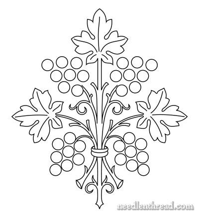 Ручная Вышивка Pattern: Виноград Букет