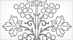 Stylized Grapes Embroidery Pattern