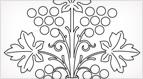 Stylized Grapes Embroidery Pattern