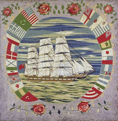 Woolies: Embroidered Ships by Sailors at Sea