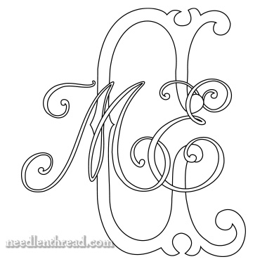 Monogram for Hand Embroidery: MCE