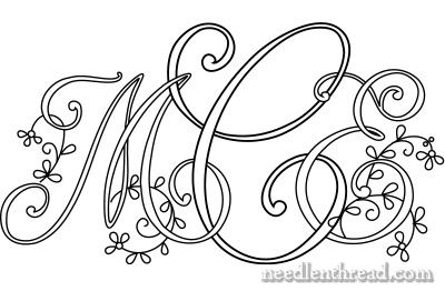 Monogram for Hand Embroidery - MCE