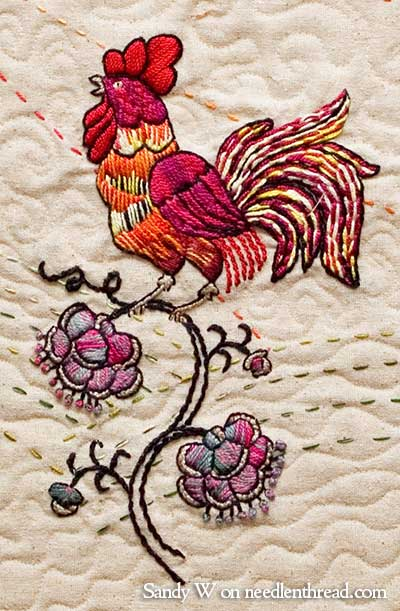 Crewel Embroidery: Rooster