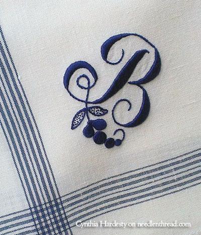 Lovely Hand Embroidered Monograms Needlenthread