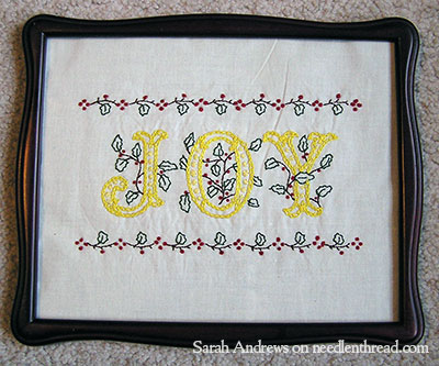 Hand Embroidered Monogram - JOY