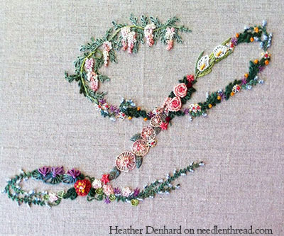 Hand Embroidered Monogram L