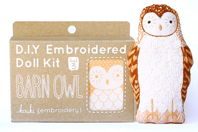 Embroidered Owl Doll