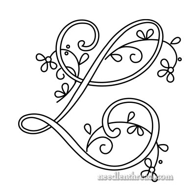 Monogram for Hand Embroidery: L