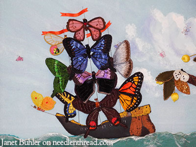 Janet Buhler Embroidered Butterflies & Mermaid