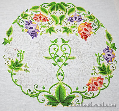 Six Embroidered Flowers, One Stitch Alteration
