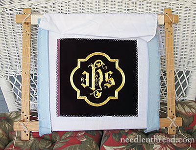 Ecclesiastical Goldwork Embroidery IHS