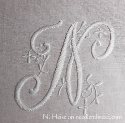 Embroidered Monogram N