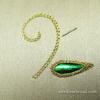 Beetle Wing Embroidery Samples