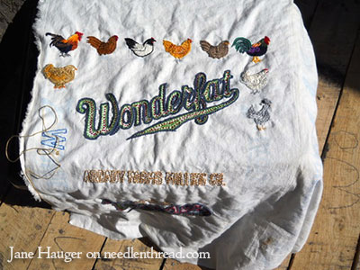 Embroidered Feed Sacks
