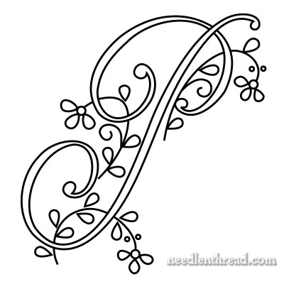 Monogram P for Hand Embroidery