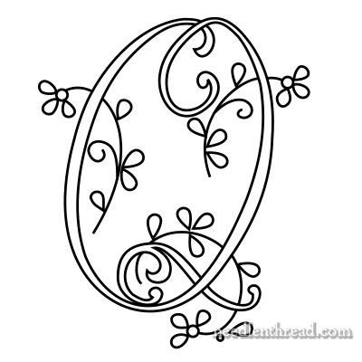 Monogram R for Hand Embroidery